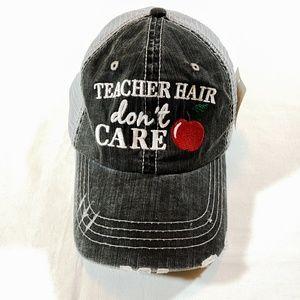 9f4ef930 NWT KATYDID Women's Trucker Hat Distressed Gray.